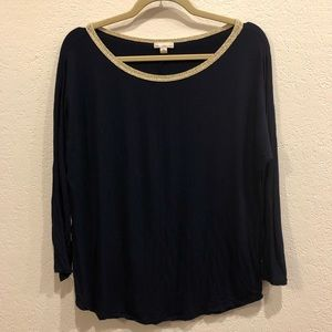 GAP Navy 3/4 Sleeve Tee